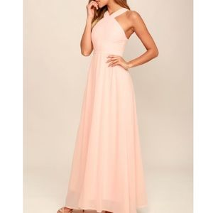 Lulus Air of Romance Peach Maxi Dress